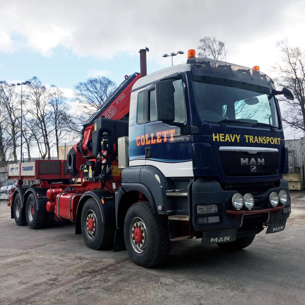 Collett's New 8x8 Crane Vehicle