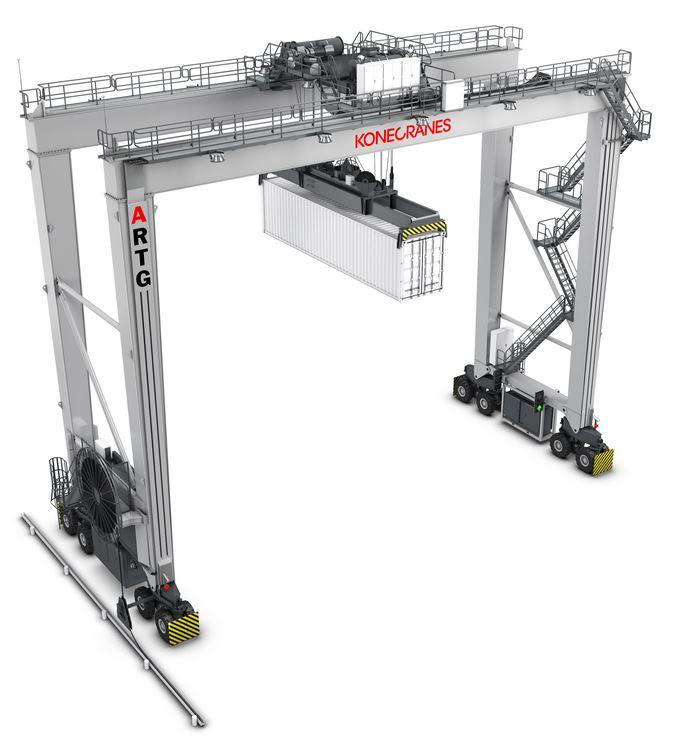Konecranes 16w Rtg: Konecranes Automated RTG Systems For 3 Yilport Terminals